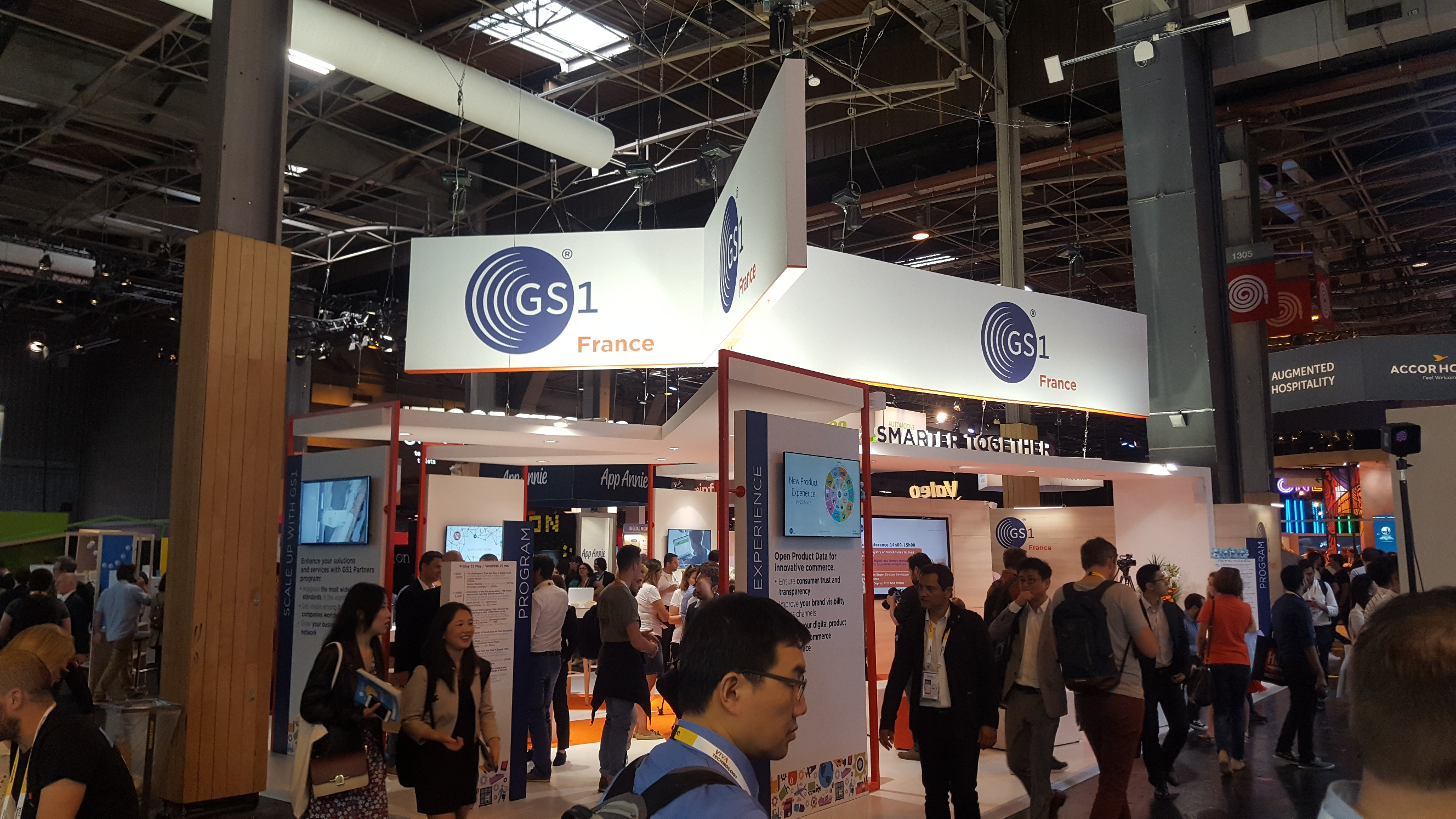 GS1 France booth at VivaTech