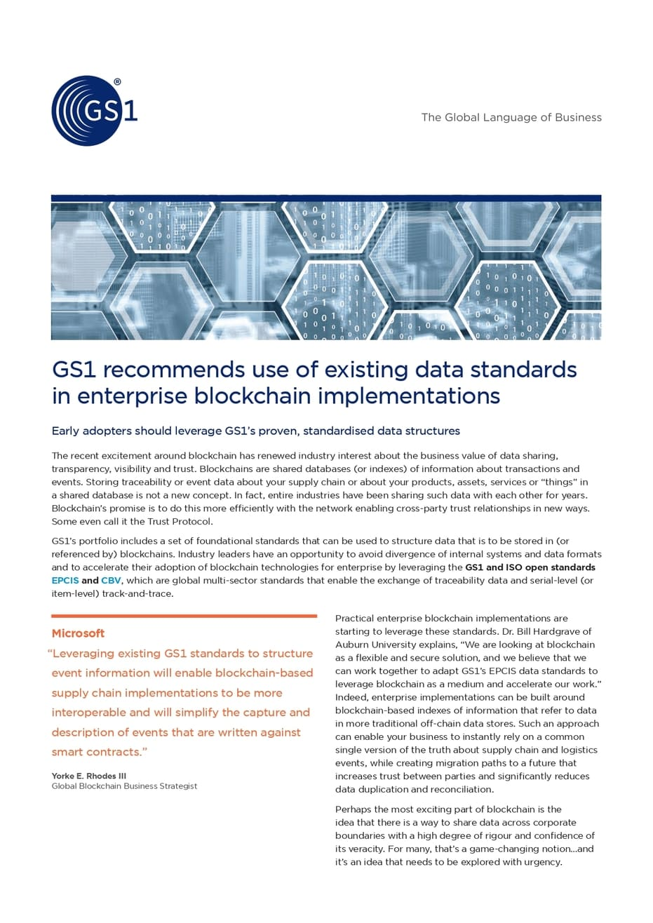 GS1 Standards Blockchain