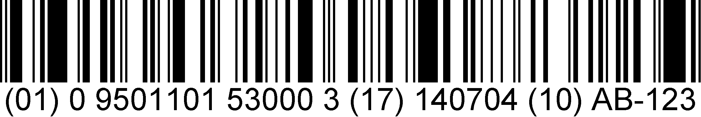 DataBar Expanded barcode