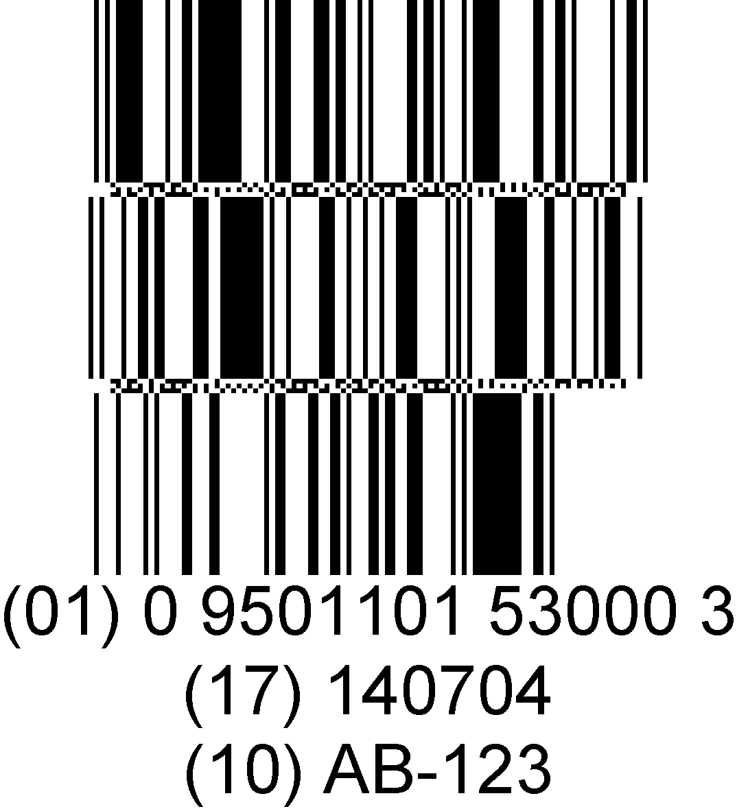 DataBar Expanded Stacked barcode