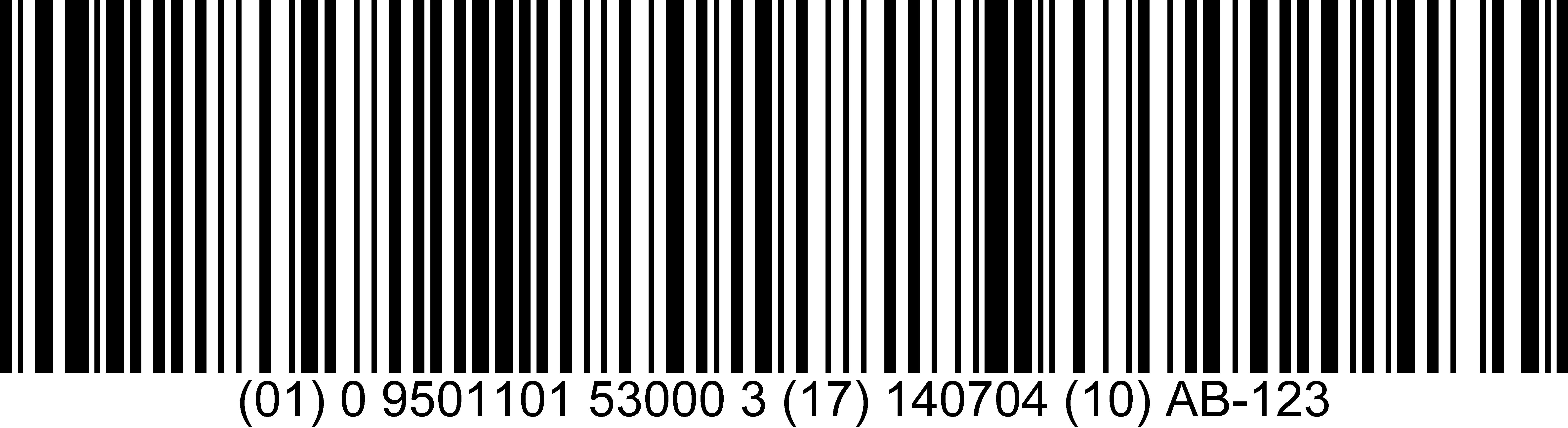1D barcode GS1-28