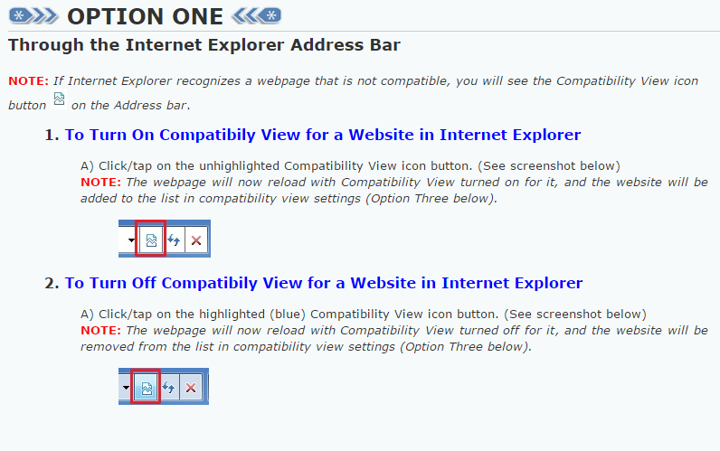 How to Turn Internet Explorer Compatibility View On or Off