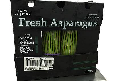 Full traceability of fresh asparagus